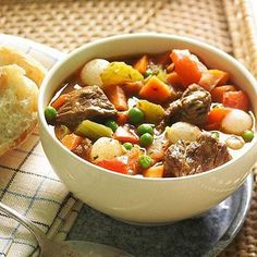 Miner's Beef Stew: Slow-cook for fork-tender results. Recipe: http://www.midwestliving.com/recipe/stews/miners-beef-stew