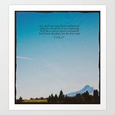 T.S. Eliot: Exploration Art Print by Leah Flores | Society6