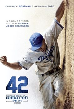 """""""42"""" Very good & ernest film. Excellent performances. Not """"pain porn"""", not a white saviour story. My favorite: the relationship between Jackie & his wife!"""
