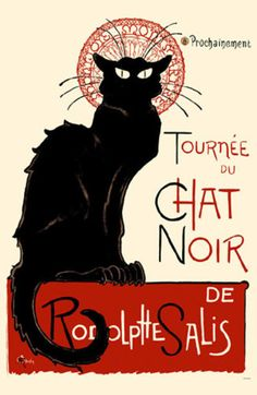 #ChatNoir  The original Chat Noir artist was inspired by Montmartre cats. These cats went everywhere. Put some in your kitchen decor with our mugs, cat dishes & more.
