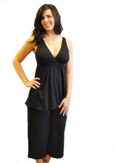 e8be6381cbda8 Amamante Nursingwear Serenity Capri Nursing Pajama Black Breastfeeding  Supplements