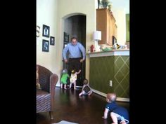 Our 11 month old quadruplets crawl to the baby gate when they hear their Daddy come Preschool Literacy, Toddler Preschool, Diy Projects For Kids, Diy For Kids, Cute Funny Babies, Sensory Activities Toddlers, Social Studies Activities, Early Math, Diy Thanksgiving