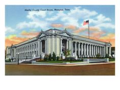 Memphis, Tennessee - Exterior View of the Shelby County Court House, c.1942