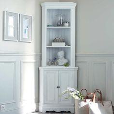 Mobile ad angolo bianco in legno di paulonia L 73 cm