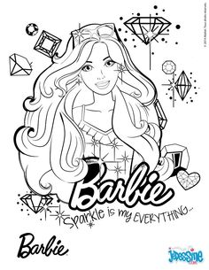 Color This Picture Of Barbie Portrait Printable With The Colors Your Choice Print Out And