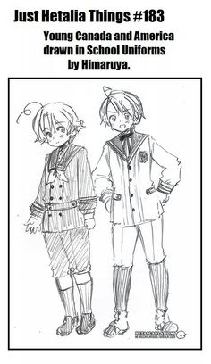 ... someone should tell Hima what North American school uniforms look like, but it's adorable nonetheless