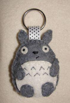 Little Wool Felt Totoro  Plushie Keychain Key by NitaFeltDecor