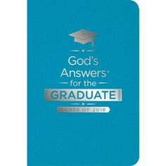 This bestselling graduation gift addresses questions grads will encounter as they move into the next phases of life and is a wonderful keepsake full of answers straight from God's Word. Beautifully packaged in a stylish teal Leathersoft with silver foil stamping and a  ribbon marker, this book is a perfect fit for today's graduates.  #churchsource #graduation #graduationgift #godsword Graduation Quotes, High School Graduation, Foil Stamping, S Word, Graduation Gifts, Markers, Perfect Fit, Congratulations, Teal