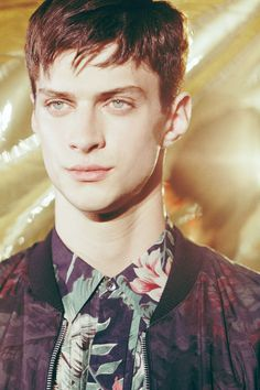 newyorkmodelsmen:  Matthew Bell | Dries Van Noten SS14 | Paris Fashion Week