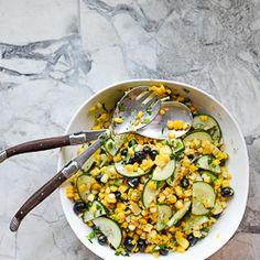 Blueberry Corn Salad HealthyAperture.com