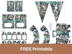 "FREE Printable ""Where the Wild Things Are""  Baby Shower, Birthday Party, First birthday party printables for free"