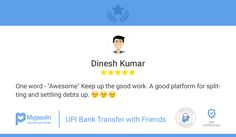 Thanks Dinesh! Keep Splitting and Settling!