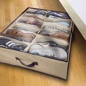 Home Basics Under-Bed Shoe Organizer - $8.99! Ships free! - http://www.pinchingyourpennies.com/home-basics-under-bed-shoe-organizer-8-99-ships-free/ #Pinchingyourpennies, #Shoestorage, #Tanga