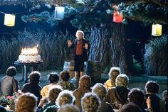 During Bilbo's farewell speech at his party, his cake (Which was polystyrene) was actually on fire! But because Sir Ian Holm was doing such a good take, they just kept filming, and actually used it in the film!