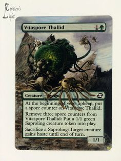 Vitaspore Thallid - MTG Alter - Revelen's Light Altered Art Magic Card