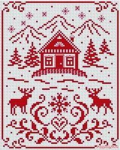 scandinavian cross stitch patterns free - plus others Cross Stitch Charts, Cross Stitch Designs, Cross Stitch Patterns, Cross Stitching, Cross Stitch Embroidery, Embroidery Patterns, Theme Noel, Knitting Charts, Plastic Canvas Patterns