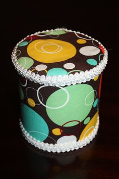 Upcycled Fabric Formula Can  Large Razzle by Craftycupcakegirl13, $8.00