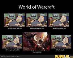 World of Warcraft - I don't play but know many people who do lol and this is so true