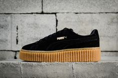 a7bc63b6450a9f Authentique Puma Suede Creepers Fenty Womens Rihanna 2018 Spring Summer  Sneakers 361005-02 Black Noir Gum Youth Big Boys Shoes