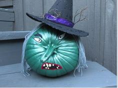 Wicked Witch Pumpkin #TYP entry in #plaidcrafts 4th Annual Trick Your Pumpkin Halloween craft contest! www.TrickYourPumpkin.com