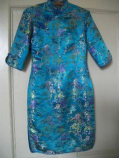 VINTAGE CHINESE SILK DRESS SIZE 8