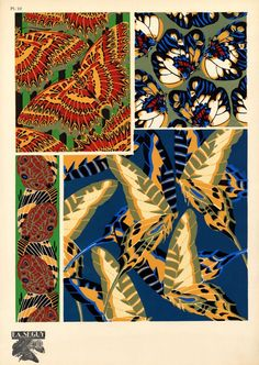 Eugène Séguy – was a French entomologist who published many portfolios of illustrations and designs from the turn of the century to the who worked in both the Art Deco and Art Nouveau styles. Motifs Textiles, Textile Patterns, Textile Design, Print Patterns, Pattern Print, Insect Wings, Insect Art, Illustrations, Illustration Art