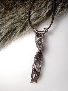 Náhrdelník David, wire pendant diy wrapping copper jewelry