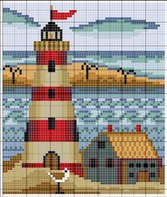 Lighthouse Nautical Sea Free Cross Sch Pattern | cross-sch ...