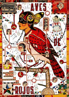 The Red Bird (For the Daughters of Juarez) by Tony Fitzpatrick