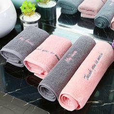 Suitable for Home Bathroom Deco Gray - Towel Home Nail Salon, Nail Salon Design, Nail Salon Decor, Salon Interior Design, Beauty Room Salon, Beauty Room Decor, Spa Room Decor, Hotel Towels, Lash Room