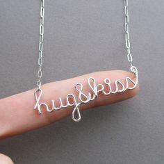 Hug & Kiss Necklace