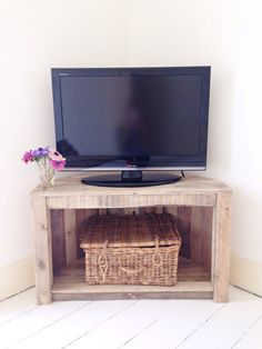 Handmade Rustic Corner Table/Tv Stand With Shelf. Reclaimed and ...