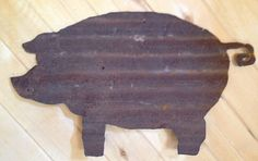 Corrugated Large Tin Pig by SnowValleyTrader on Etsy, $35.00