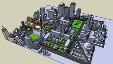3D Model of Cidade, City 1.0