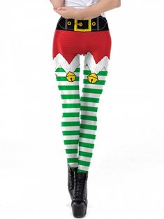 7a6b903dd EraSpooky Women s Print Leggings Christmas Tights Yoga Pants
