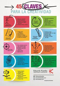 45 claves para la creatividad #infografia #infographic | Creatividad, innovación y pensamiento divergente | Scoop.it