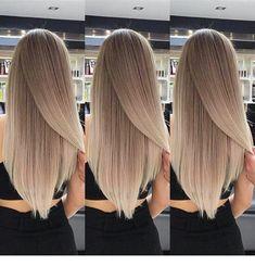 Hair cut and length - Frisuren/Haarfarbe - Hair Styles Love Hair, Gorgeous Hair, Blonde Hair Looks, Hair Color And Cut, Blonde Balayage, Hair Highlights, Ombre Hair, Pretty Hairstyles, Dyed Hair