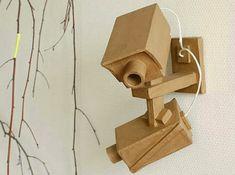 Caméra en carton / cardboard video camera 008 by FilezDoux, Cardboard Camera, Cardboard Toys, Camera Crafts, Butterfly Project, Cardboard Sculpture, Camera Art, Scrap, Sculptures, Sculpture Ideas