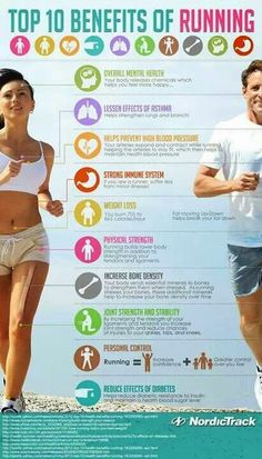 10 Benefits of Running Infographic. Maybe this will give me some motivation! Health Tips, Health And Wellness, Health Fitness, Mental Health, Health Exercise, Physical Exercise, Paleo Fitness, Health Facts, Physical Therapy