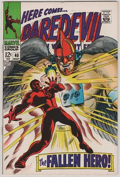 Daredevil V1 40. VF. May 1968. Marvel by RubbersuitStudios, $69.00