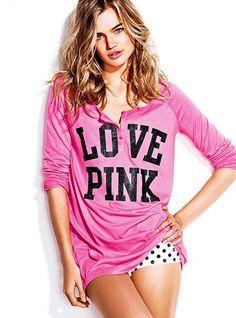 Henley & Sleep Panty Gift Set - Victoria's Secret Pink® - Victoria's Secret on We Heart It. http://weheartit.com/entry/17021865
