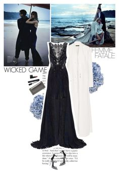 """wicked game"" by helena99 ❤ liked on Polyvore featuring Ethan Allen, The Row, Julien Macdonald, Giuseppe Zanotti, Gucci, Christian Dior, NARS Cosmetics, clutches, GiuseppeZanotti and Gowns"