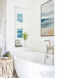 coastal wall art decor ideas for the bathroom - Coastal Bathroom