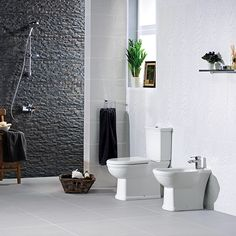 RAK Ceramics Washington Close Coupled Toilet with Soft Close White Wooden Seat Traditional Bathroom Suites, Classic Bathroom Furniture, Close Coupled Toilets, New Builds, Modern Design, Washington, Ceramics, Ceramica, Pottery