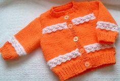 Peach Baby Cardigan | Craftsy