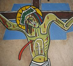 Station 12: Jesus Dies on the Cross ! Artist: Brother Otto Geraldo Roderfeld