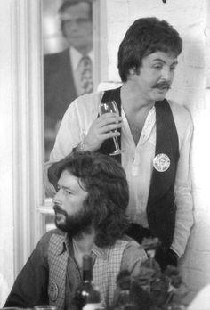 Paul McCartney and Eric Clapton