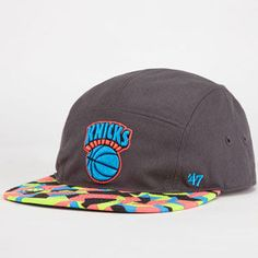 47 BRAND Knicks Party Camo Mens 5 Panel Hat