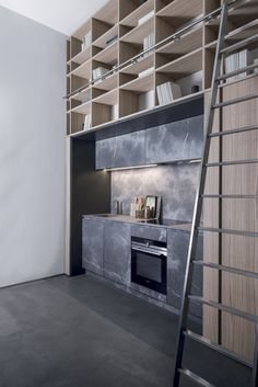 Kitchen in Corinto stone and Elm T45 | Kitchen by TM Italia Cucine