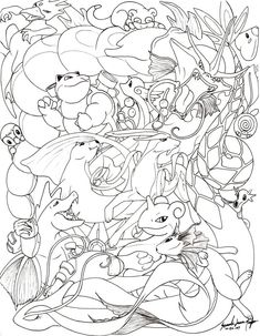 Okay, I am the one who is insane, but allow me first to list off all the pokemon in this drawing (in no particul. Water Pokemon -line- Pyssla Pokemon, Pokemon Craft, Pokemon Party, Pokemon Eevee, Eevee Evolutions, Coloring Book Pages, Printable Coloring Pages, Mandala Pokémon, Pokemon Coloring Sheets